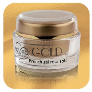 French gel rosa soft linea Gold - Loving Nails